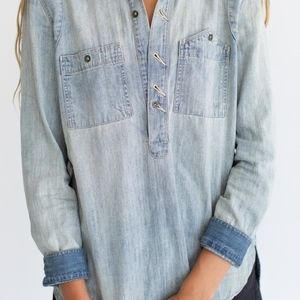 Madewell Tops - Madewell Rivet & Thread Tincup Denim Popover Tunic